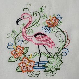 Decorative kitchen towel - flamingo